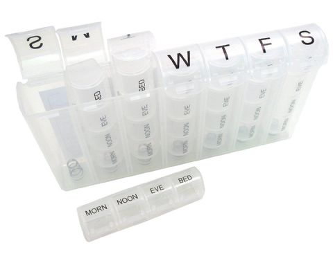 Utracare - Sprung Compartments Pill Reminder 7 days x 4 compartments by Utracare